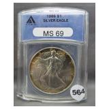 1986 Silver Eagle. ANACS MS69.