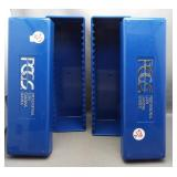 (2) PCGS Coin holder blue boxes.