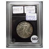 1942-P Walking Liberty half dollar in superb GEM