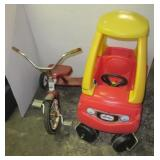 Little Tikes plastic car and a Free Spirit