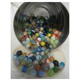 Collection of marbles including shooters, etc.