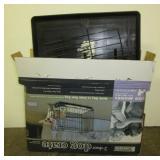 2-Door dog crate with original box.