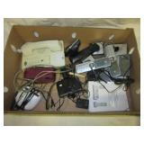 Various alarms and telephones, including four