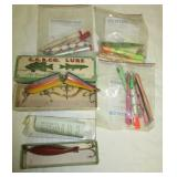 (14) Pencil plugs, Creep Chub bait with original