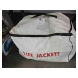 Bag of life jackets.