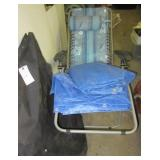 (2) Folding chairs of various styles in a carry