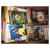 (3) Boxes of books and VHS tapes including Mary