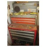Craftsman two piece toolbox with contents