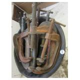 (10) Large C-clamps including Armstrong,