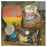 Various electrical wire, light & socket switches,