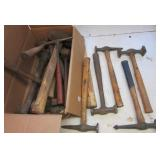 (17) Various style machinist hammers.