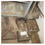 Large group of metal pieces including conduit,