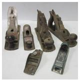 (6) Vintage planers. Brands include Craftsman,