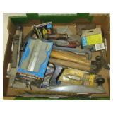 Contour gauge, hammers, staples, utility knives,
