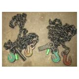 (2) Campbell 7/32 chains with hooks. Measure 7ft