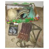 Hard hat, welding gloves, straps, CM hoist bar,