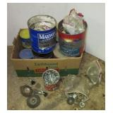Large group of hardware including bolts, washers,