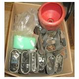Large group of hardware including new drill bits,