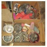 Bolts, Screws, Files, Grinding bits, nails, tape,