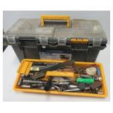 Work force tool box filled with sockets,