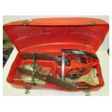Vintage Homelite XL2 gas chain saw with 3 bars,