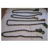 (3) Campbell small chains with (5) hooks total.