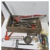 Group of hand tools including large tape
