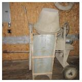 Cement mixer with 3/4HP motor and Shute on wheels