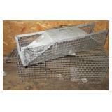 (2) Animal live traps. Small & Medium.