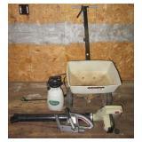 Yard Star spreader, Yard Sprayer, Electric blower