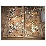 (2) Wood crated filled with various lengths of
