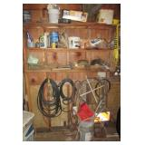 Contents including heavy duty plugs, hammers,