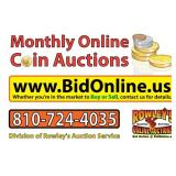 Coins & Currency Online Auction - June 13 (Wednesday)