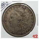1880-O Morgan Silver Dollar.