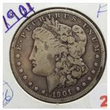 1901 Morgan Silver Dollar.