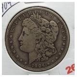 1904 Morgan Silver Dollar.