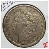 1904-O Morgan Silver Dollar.
