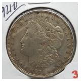 1921-D Morgan Silver Dollar.