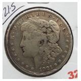 1921-S Morgan Silver Dollar.