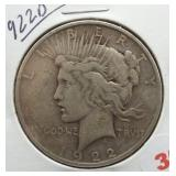 1922-D Peace Silver Dollar.