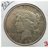 1923 Peace Silver Dollar.