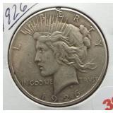 1926 Peace Silver Dollar.