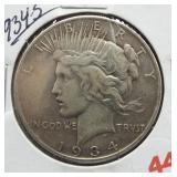 1934-S Peace Silver Dollar.