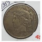 1935-S Peace Silver Dollar.