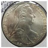 1780 Maria Theresia Thaler .75 Troy Ounce