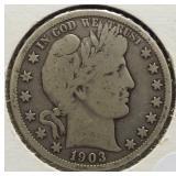 1903-O Barber Silver Half Dollar.