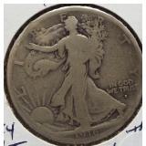 1916-S Walking Liberty Silver Half Dollar.