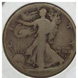 1916-D Walking Liberty Silver Half Dollar.