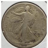 1917-S Walking Liberty Silver Half Dollar.