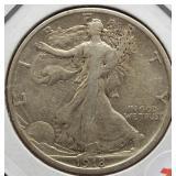 1918 Walking Liberty Silver Half Dollar.